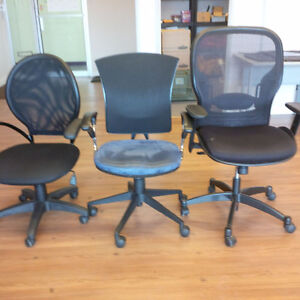 used office swivel chairs (6) and standard chairs (8)