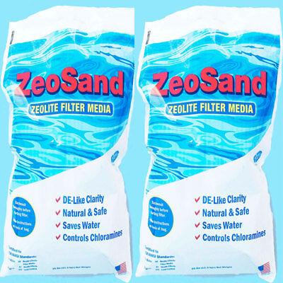 - ZeoSand Pool Filter Media 50 lbs (2 x 25 lb Bags)