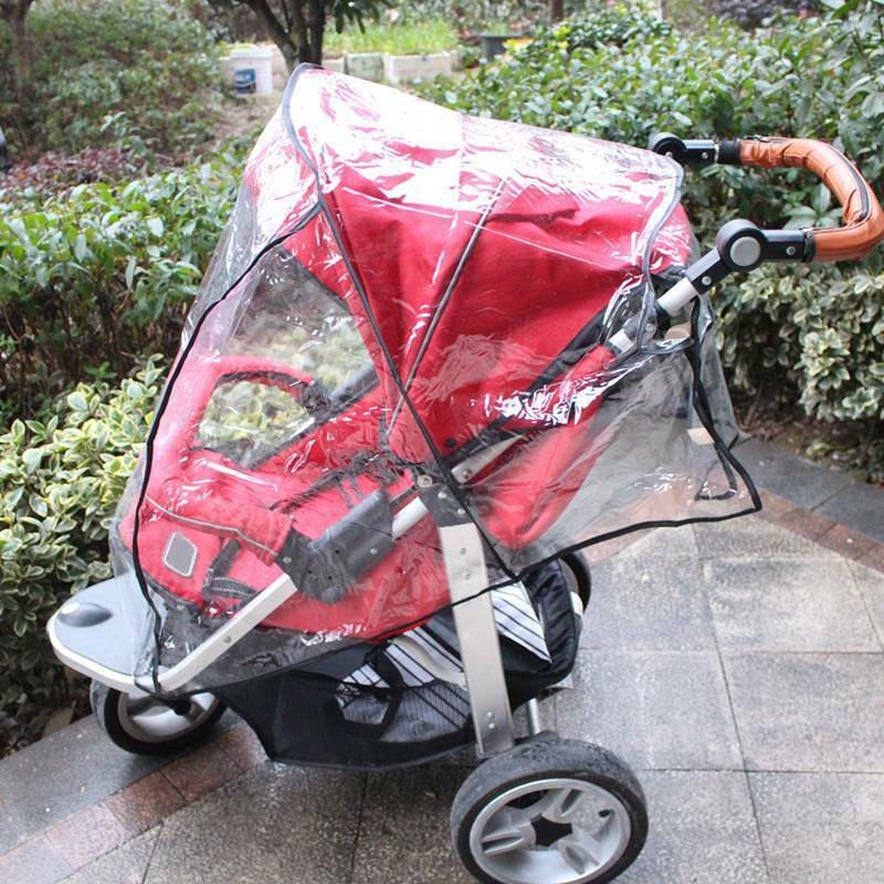 Universal Waterproof Rain Cover Wind Shield Fit Most Baby Strollers Pushchairs