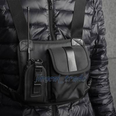 Universal Radio Carry Caseholder Bag Walkie Talkie Chest Pocket Pack Backpack
