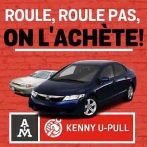 Scrap autos! Achat autos scrap! Ferraille! Recyclage! Scrap cars! Cash for scrap 514-939-9900