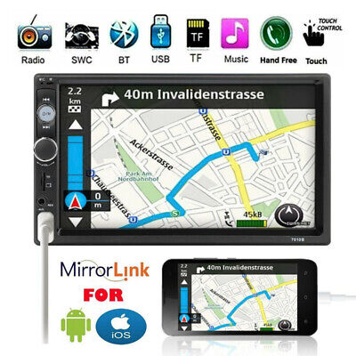 Touch Stereo (7'' 2DIN Touch Autoradio Mirror Link für GPS Navi Stereo MP5 Player Bluetooth FM)