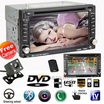 "2DIN Quad Core Android 3G 6.2"" Double Car Radio Stereo MP5 DVD Player + Cam"