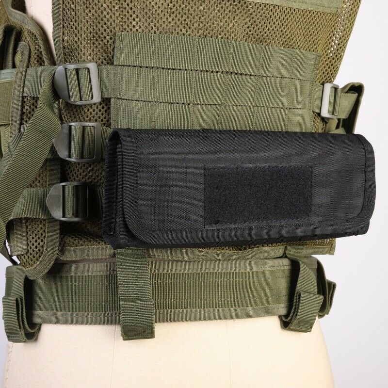 US Tactical Molle 18 Rounds Shotgun Shell Holder For 12/20 GA Pouch Black