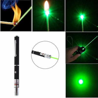 Powerful Green Laser Pointer Pen Visible Beam Light 5mw Lazer 532n Us Rf