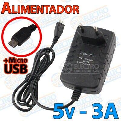Alimentador 5v 3A 3000mA Micro USB tipo Type B cargador Raspberry pi...