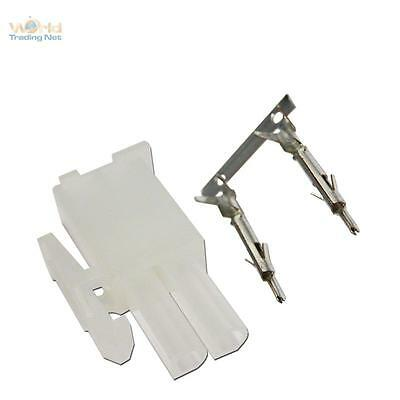 10 Paar Steckverbinder 2-polig mit Crimpkontakten ideal für LED Einbaustrahler