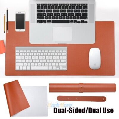 Waterproof Desk Pad 31.5 X 15.7 Large Rectangular Leather Laptop Desk Dual Use