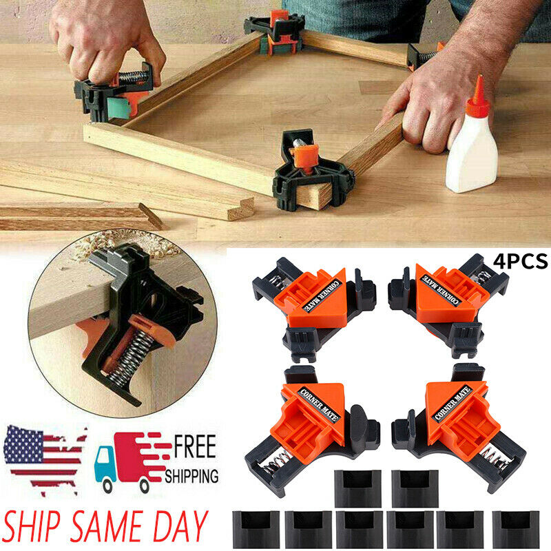 4Pcs/Kit 90° Right Angle Clip Clamps Corner Holder Woodwork