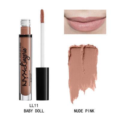 NYX Lip Lingerie Matte Liquid Lipstick Waterproof Cosmetic Baby Doll