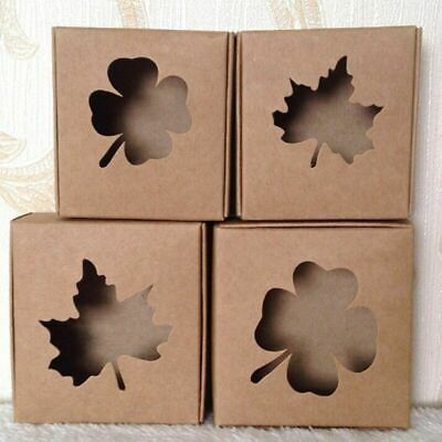 Kraft Paper Box For Gifts Packaging 7.57.53cm 2 Pcslot Item Boxes With Window