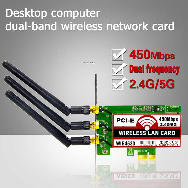 2.4/5G Dual Wireless WiFi LAN Card PCI-E X1 Network Adapter