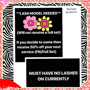 Models needed for eyelash extensions