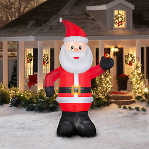 8 FOOT PRE-LIGHTED INFLATABLE SANTA OR SNOWMAN (NEW IN BOX)