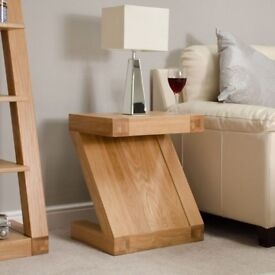 Modern and Designer Oak Lamp Table NEW