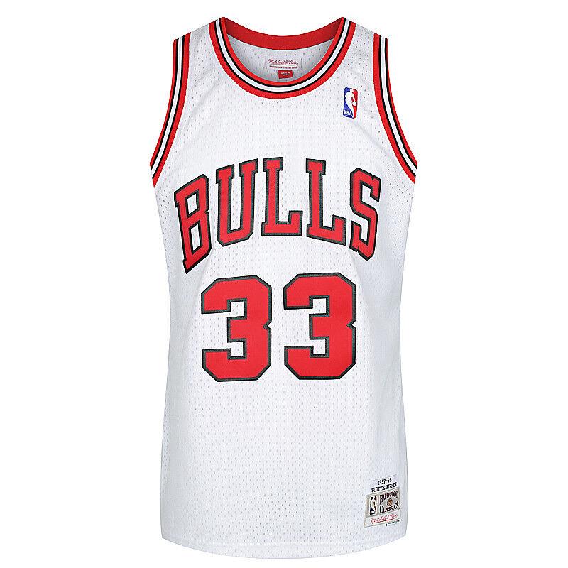 ba2f6953d26d Details about Mitchell   Ness NBA Chicago Bulls Scottie Pippen  33 Home HWC  Swingman Jersey
