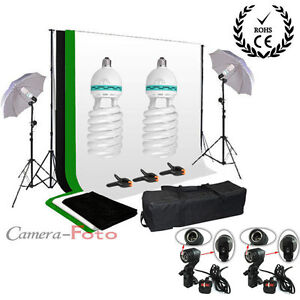 tissus de fond vert blanc noir fond photo studio clairage kit porte parapluie ebay. Black Bedroom Furniture Sets. Home Design Ideas