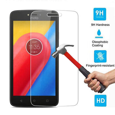 9H Premium Tempered Glass Screen Protector Film Cover For Motorola Moto C Plus