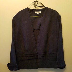 Navy blue formal dress with jacket size 18