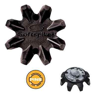 Black Widow Soft Spikes for Adidas golf shoes PINS Thread x 20