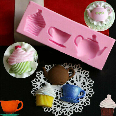 Teapot Cupcake Cake Mould Decorating Silicone Cup Baking Paste Soap Cake Mold