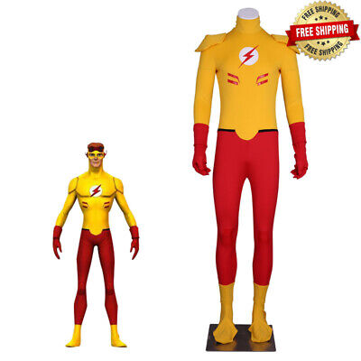 Young Justice Costumes For Kids (Young Justice The Flash Kid Flash Cosplay Jumpsuits With Mask Boy For)