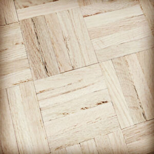 Unfinished 5-Bar Red Oak Parquet Flooring
