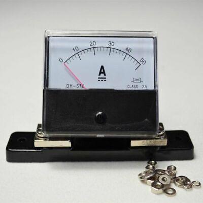 Dc 0-50a Current Ammeter Class 2.5 Analog Amp Panel Meter Shunt Resistor