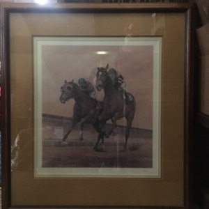 Collectable Thoroubred Equine Art: The Rivals, Alydar & Affirmed