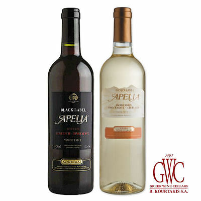 Greek Wine Cellars Imiglykos 2x 0,75l Set Apelia Gold und Black Label