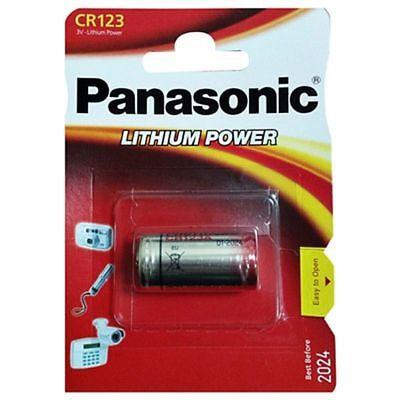 1x Pila Panasonic CR123 3V LITIO CAMARA FOTO123A DL 123A EL CR123AP...