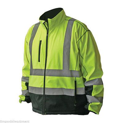 Hi-vis Premium Soft Shell Jacket Meets Ansiisea 107-2010 Class 3 Standards