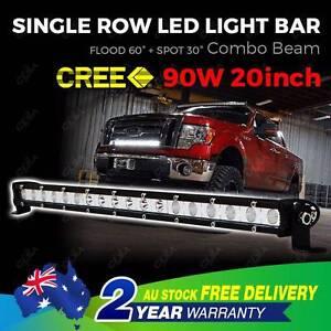 CREE LED Light Bar 20'' Driving Single Row Work Spot Flood Offroa