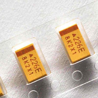 10pcs 226e 25v 22uf 20 Smd Tantalum Capacitors C Case 6032 6mm3.2mm