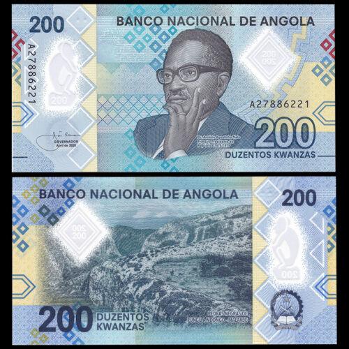 Angola 200 Kwanzas, 2020, P-New, Prefix A, Polymer, Banknote, UNC