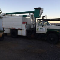 Forestry truck / bucket truck * tree removal, chipper