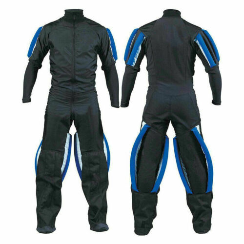 Skydiving jumpsuit Gripper suit with blue grippers and custom printing on suit