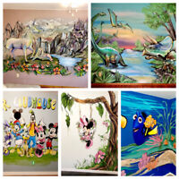 Murals, Paintings, Pet Portraits and more