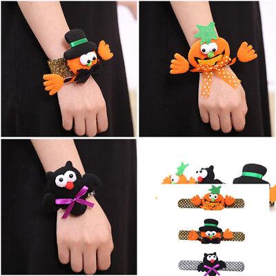 Halloween Pumpkin Bat Wristband Costume Party Bracelets For Children Kids Gifts - Halloween Costumes For Kids Pumpkin