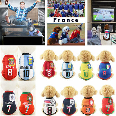 Dog puppy cat football soccer World Cup jersey pet summer sports shirt costume](Soccer Costumes)