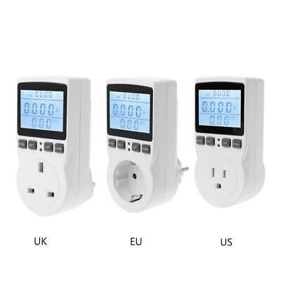 Euusuk Plug Outlet Digital Power Meter Socket Energy Electricity Cost Monitor