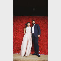 BEAUTIFUL RED FLOWER WALL FOR WEDDINGS/SPECIAL EVENTS