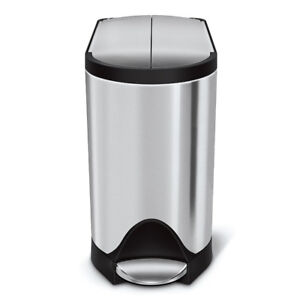 simplehuman Butterfly Step Trash Can, Stainless Steel