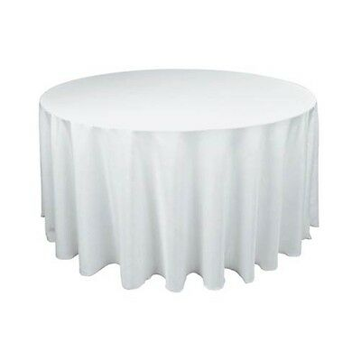 Tablecloth Table Cover White Round Satin Banquet Wedding Event Party White