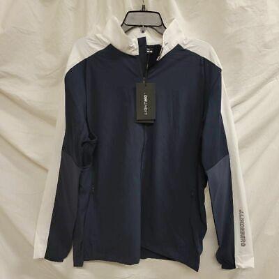 J.lindeberg Mens Zane Golf Windbreaker Jacket Blue Stretch Breathable XL New