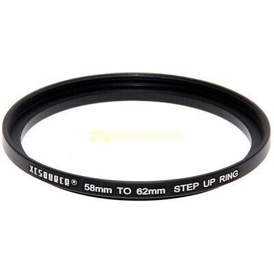 Adattatore step up 58/62mm. per filtri 62 mm. su obiettivi diam. 58. Adapter.