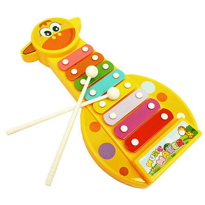 Cartoon Giraffe Xylophone Toy Children Kids Music Educational Toys Baby Gifts US