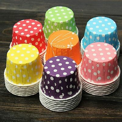100pcs Colorful Paper Cake Cupcake Liner Case Wrapper Muffin Baking Cup Party (Cupcake Papers)