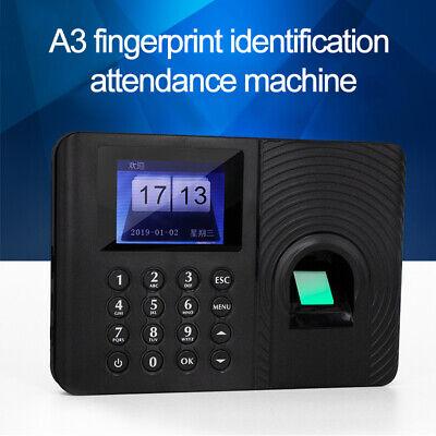 Hd Digital Lcd Finger Print Attendance Time Clock Recorder Work Usb High Quality