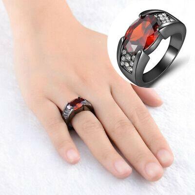 Men's Rings Black Band Steel Titanium Zircon Wedding Stainless Dragon Fashion